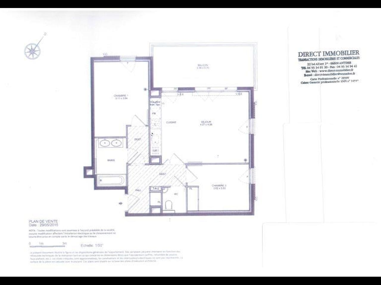 PLAN 3 PIECES 27 TANIT PROMOGIM  1er etage